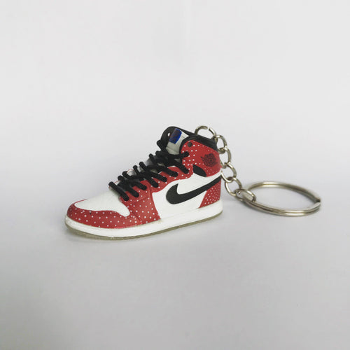 Porte-clés sneakers 3D : Air Jordan 1 SpidermanSneakers Wall Star- accessoires sneakers addict