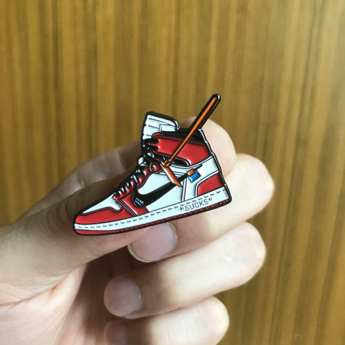 Pins Air Jordan 1 x Off White ChicagoSneakers Wall Star- accessoires sneakers addict