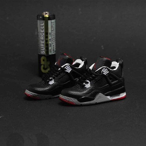 Porte-clés sneakers 3D : Air Jordan 4 BredSneakers Wall Star- accessoires sneakers addict