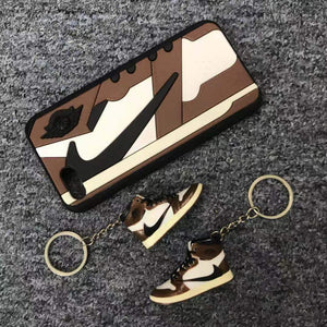 Porte-clés sneakers 3D : Air Jordan 1 Travis ScottSneakers Wall Star- accessoires sneakers addict