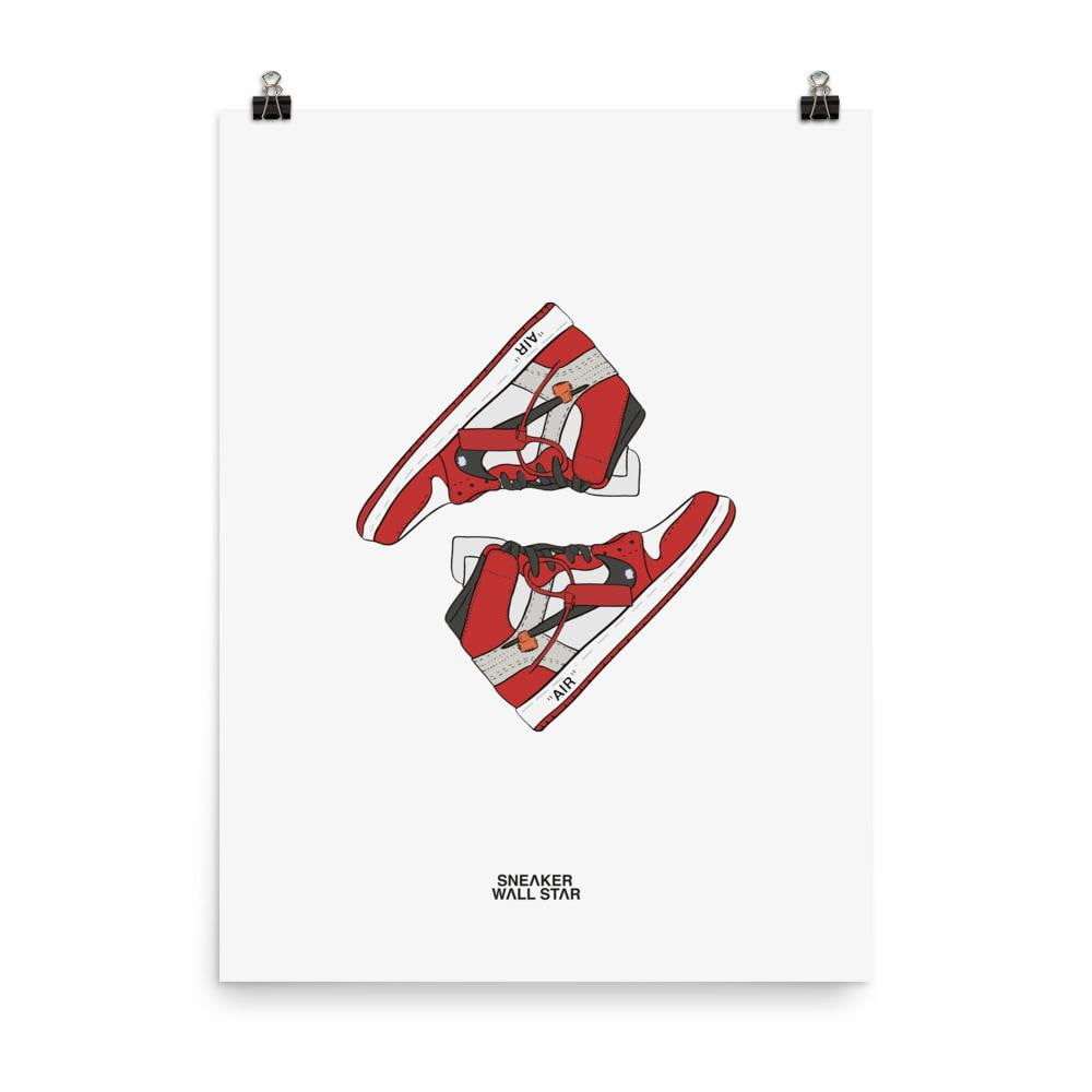 Poster Air Jordan x Off White Nike AJ I 1 'The 10 Ten'Sneakers Wall Star- accessoires sneakers addict
