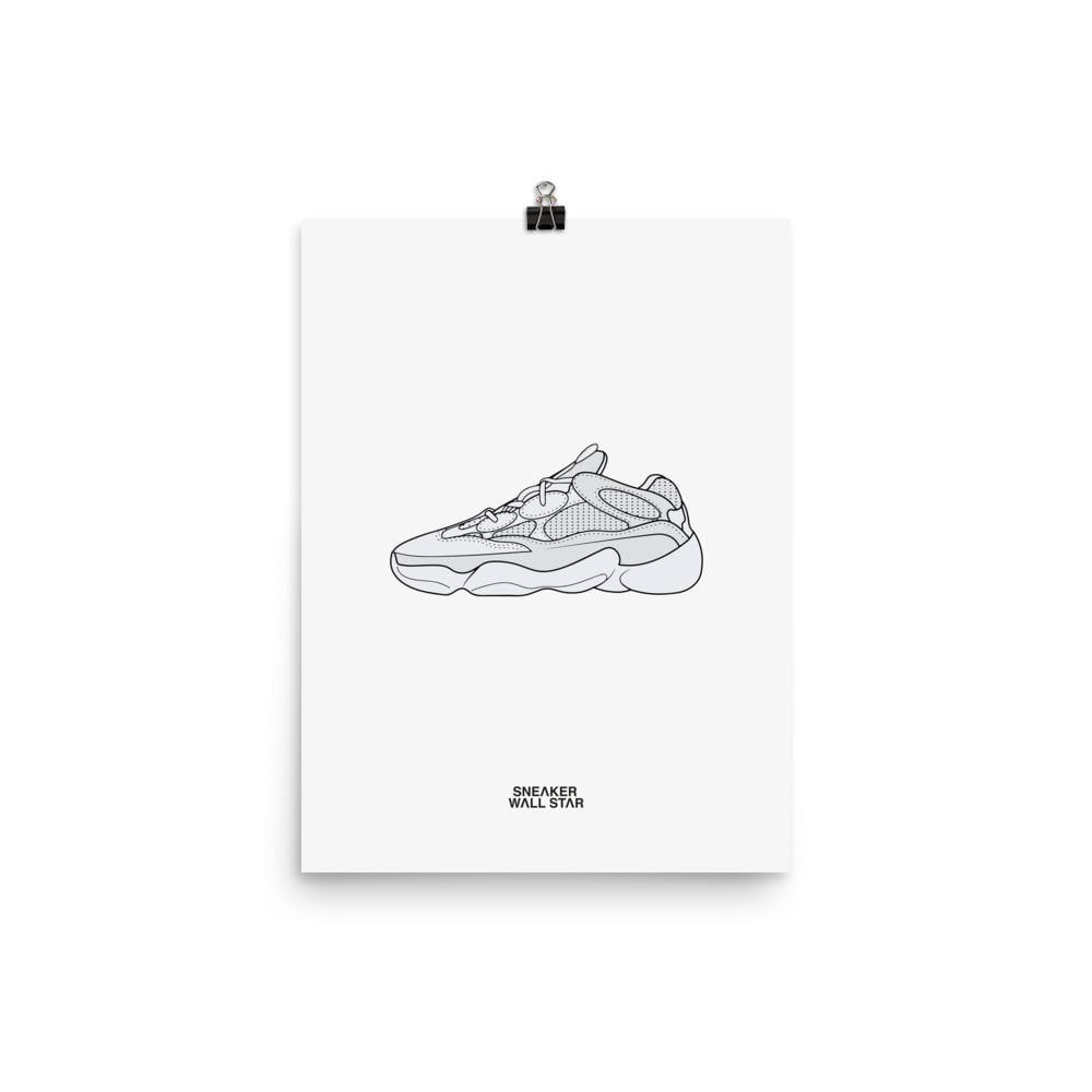 Poster adidas Yeezy 500 SaltSneakers Wall Star- accessoires sneakers addict