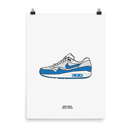 Poster Air Max 1 OG BlueSneakers Wall Star- accessoires sneakers addict