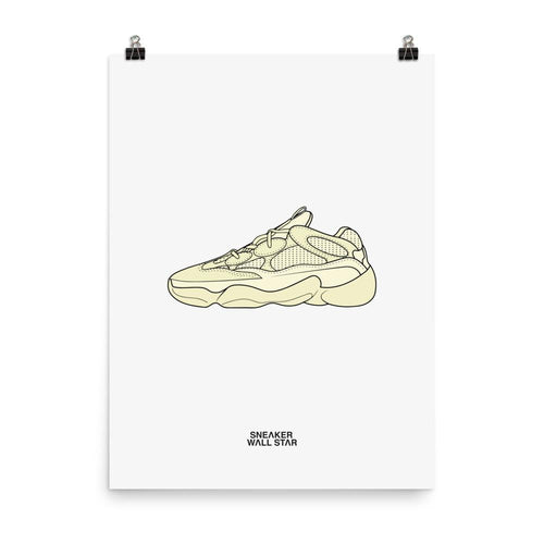 Poster adidas Yeezy 500 Super Moon Yellow