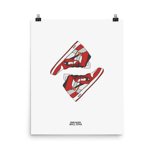 Poster Air Jordan x Off White Nike AJ I 1 'The 10 Ten'