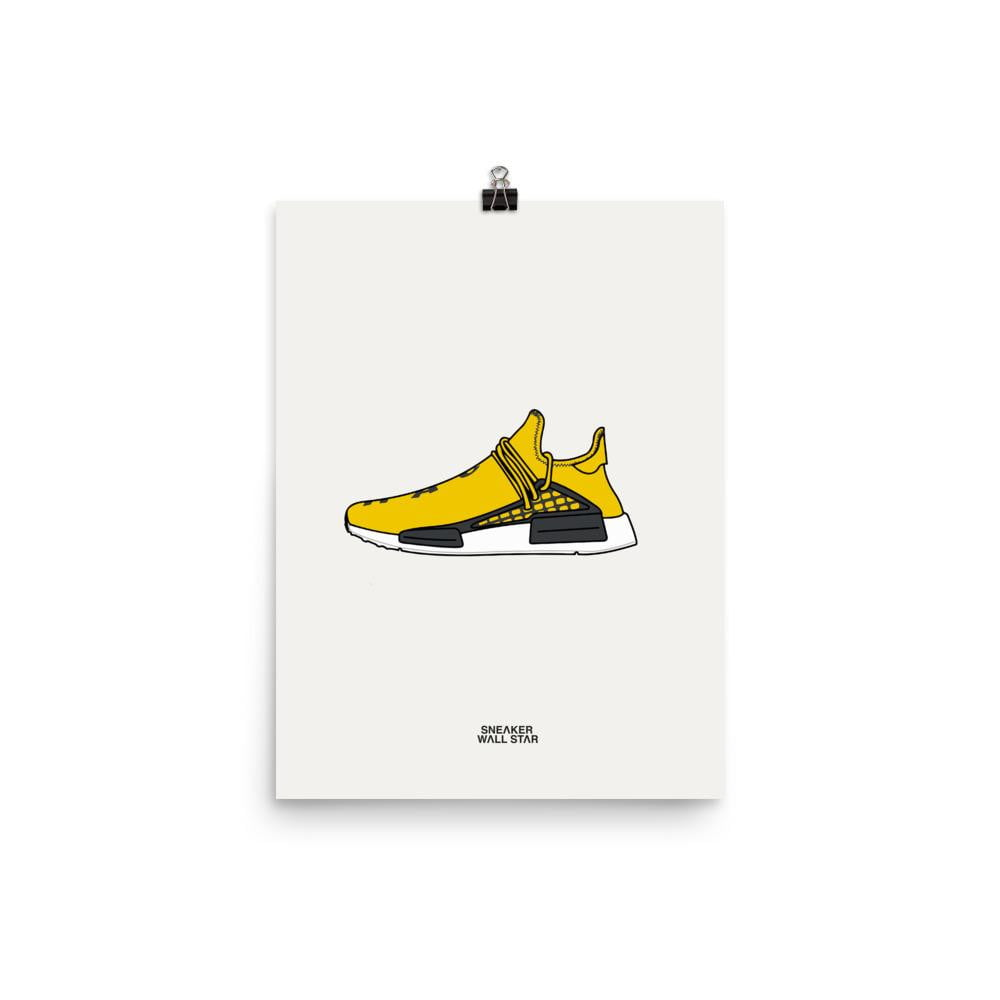 Poster adidas NMD HU Human Race YellowSneakers Wall Star- accessoires sneakers addict