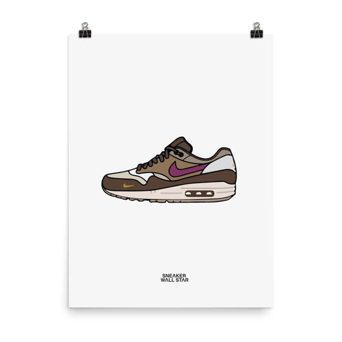 Poster Air Max 1 Atmos ViotechSneakers Wall Star- accessoires sneakers addict