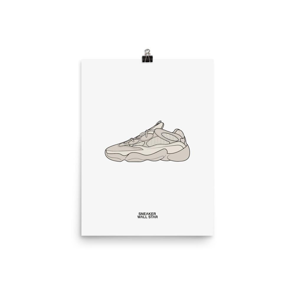 Poster adidas Yeezy 500 BlushSneakers Wall Star- accessoires sneakers addict