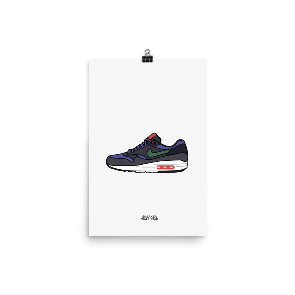 Poster Air Max 1 Patta 5th Anniv DenimSneakers Wall Star- accessoires sneakers addict