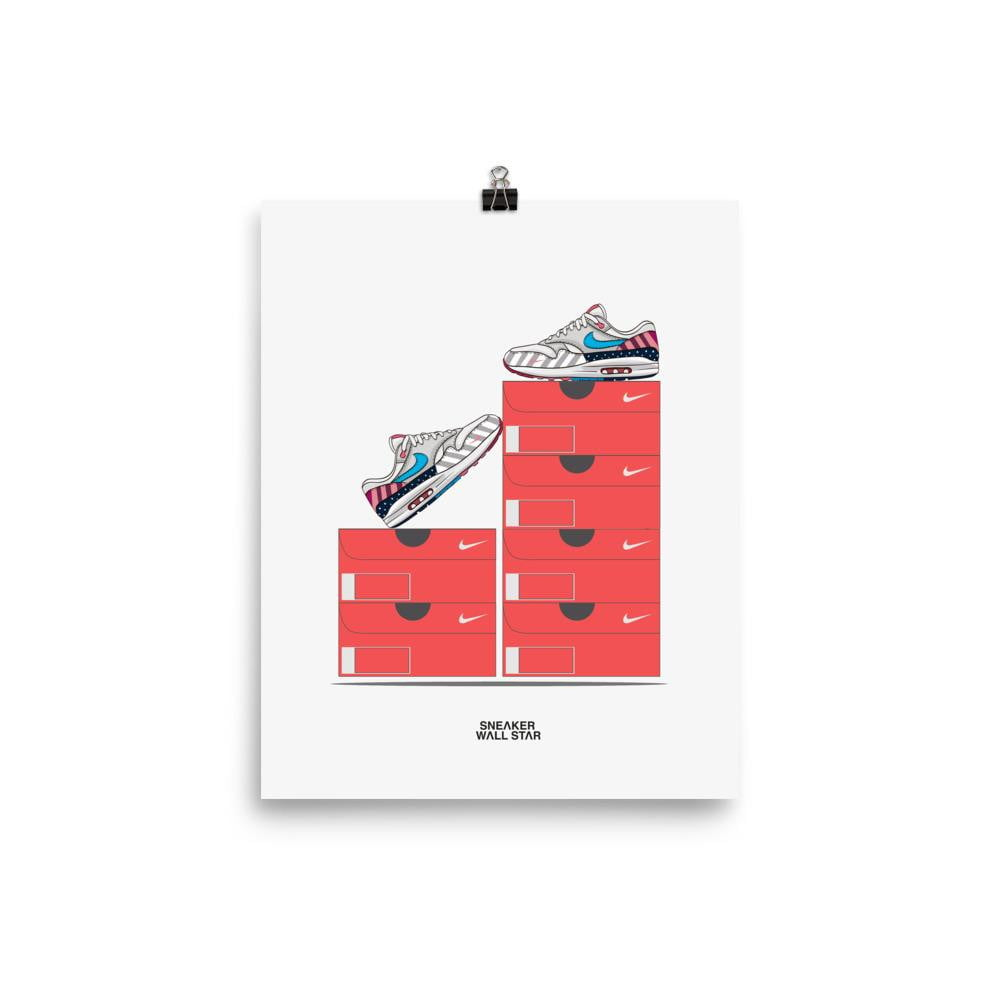 Poster Air Max 1 Parra - Nike BoxSneakers Wall Star- accessoires sneakers addict