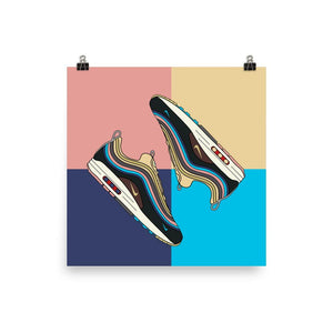 Poster Nike Air Max 1/97 Sean WotherspoonSneakers Wall Star- accessoires sneakers addict