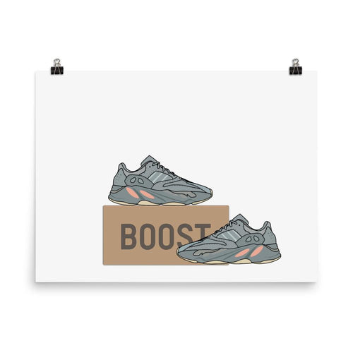 Poster Yeezy 700 Inertia - HorizontalSneakers Wall Star- accessoires sneakers addict