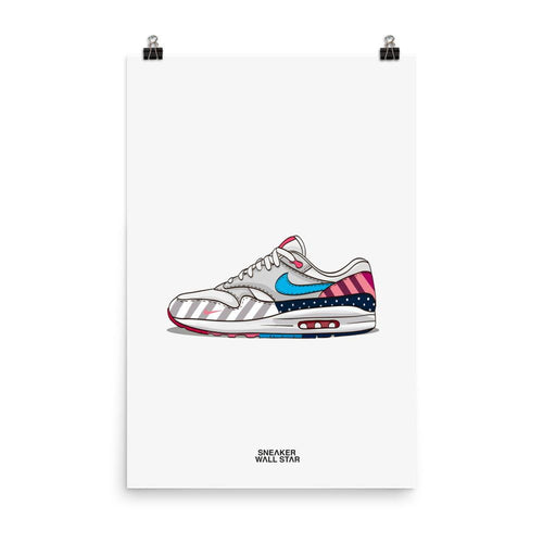 Poster Air Max 1 Parra 2018Sneakers Wall Star- accessoires sneakers addict