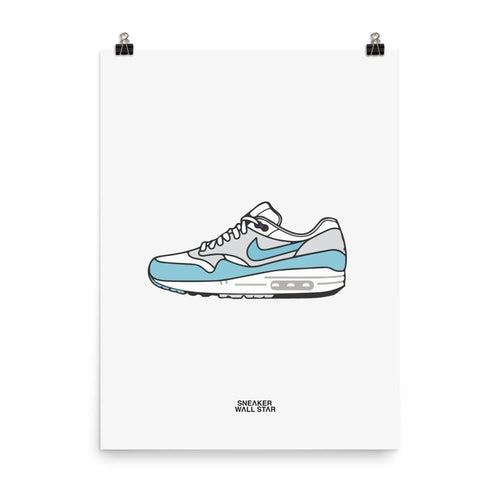 Poster Air Max 1 AquaSneakers Wall Star- accessoires sneakers addict