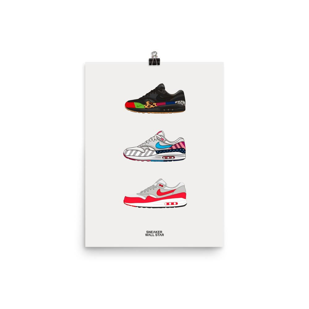 Poster Air Max 1 rotationSneakers Wall Star- accessoires sneakers addict