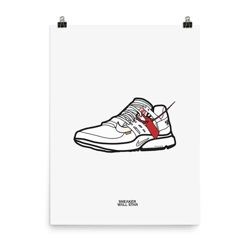 Poster Nike Air Presto Off White - White