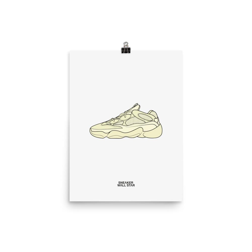 Poster adidas Yeezy 500 Super Moon YellowSneakers Wall Star- accessoires sneakers addict