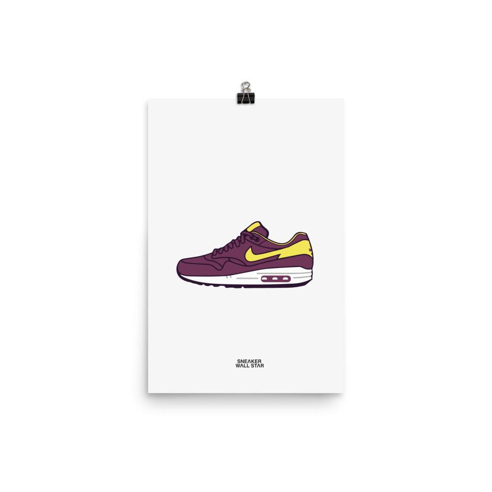 Poster Air Max 1 Dynamic BerrySneakers Wall Star- accessoires sneakers addict
