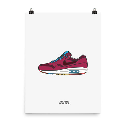 Poster Air Max 1 CherrywoodSneakers Wall Star- accessoires sneakers addict