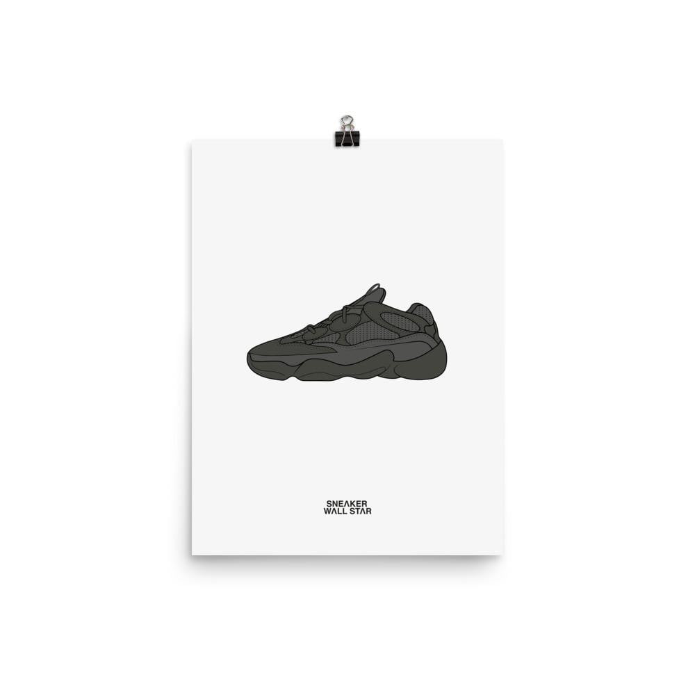Poster adidas Yeezy 500 Utility BlackSneakers Wall Star- accessoires sneakers addict