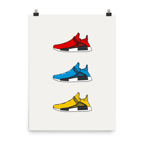 Poster Sneakers - Adidas Human Race V1