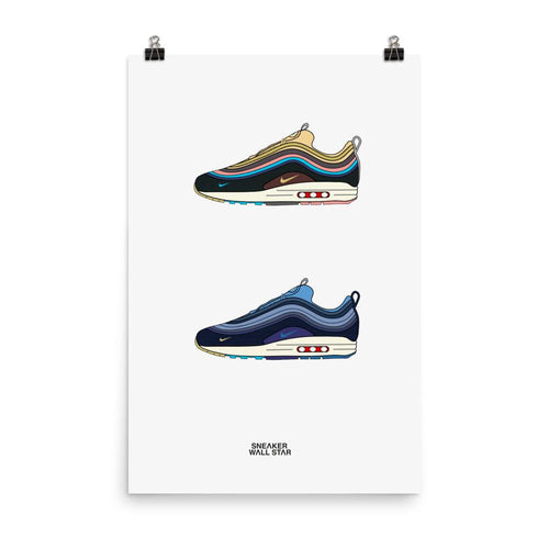 Poster Air Max 1/97 Sean Wotherspoon V1 & V2Sneakers Wall Star- accessoires sneakers addict