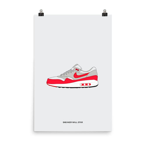 Poster Air Max 1 Anniversary Red OG