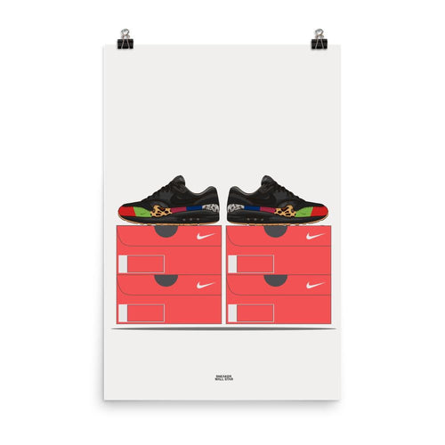 Poster Air Max 1 Master - Nike BoxSneakers Wall Star- accessoires sneakers addict