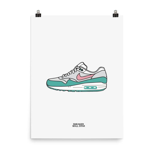 Poster Air Max 1 WatermelonSneakers Wall Star- accessoires sneakers addict