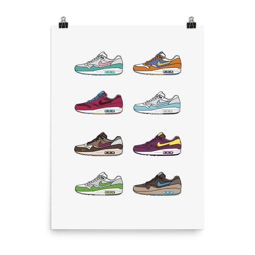 Poster Air Max 1 CollectionSneakers Wall Star- accessoires sneakers addict