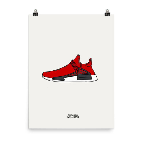 Poster adidas NMD HU Human Race ScarletSneakers Wall Star- accessoires sneakers addict
