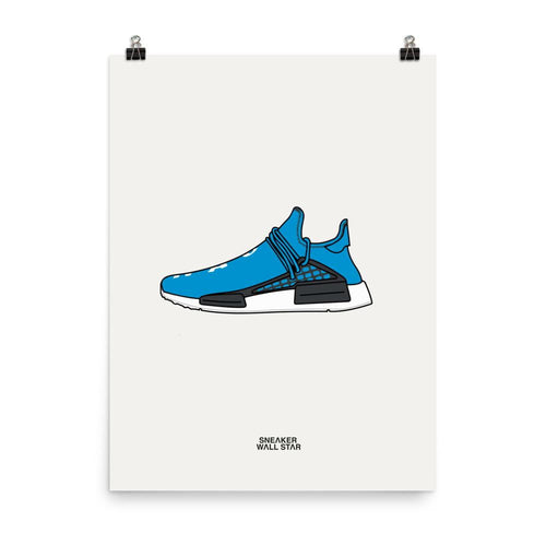 Poster adidas NMD HU Human Being Sharp BlueSneakers Wall Star- accessoires sneakers addict