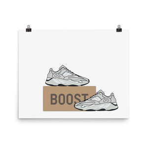 Poster Yeezy 700 Salt - HorizontalSneakers Wall Star- accessoires sneakers addict