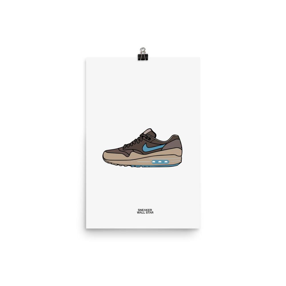 Poster Air Max 1 Premium RidgerocSneakers Wall Star- accessoires sneakers addict