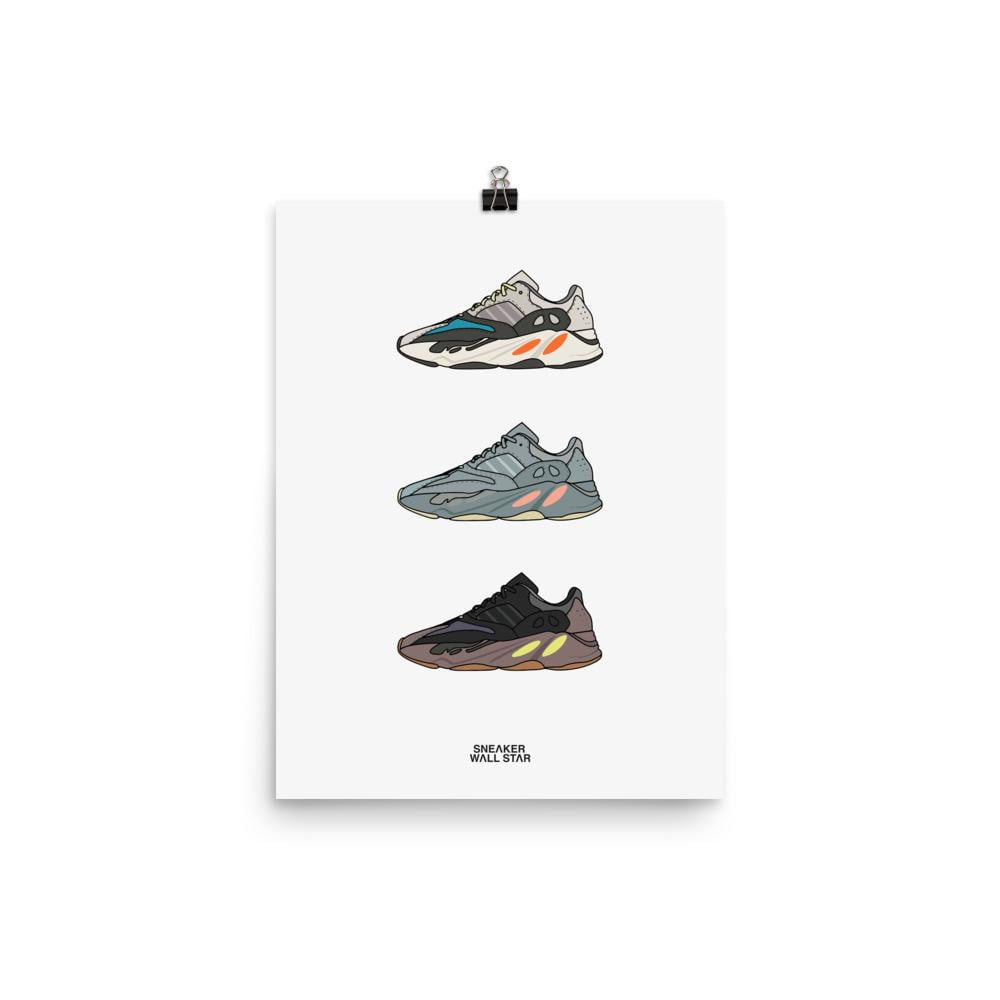 Poster Yeezy 700 rotationSneakers Wall Star- accessoires sneakers addict