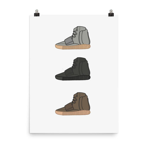 Poster Yeezy 750 - Collection