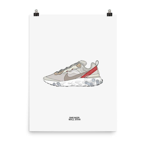 Poster Nike React Element 87 - SailSneakers Wall Star- accessoires sneakers addict