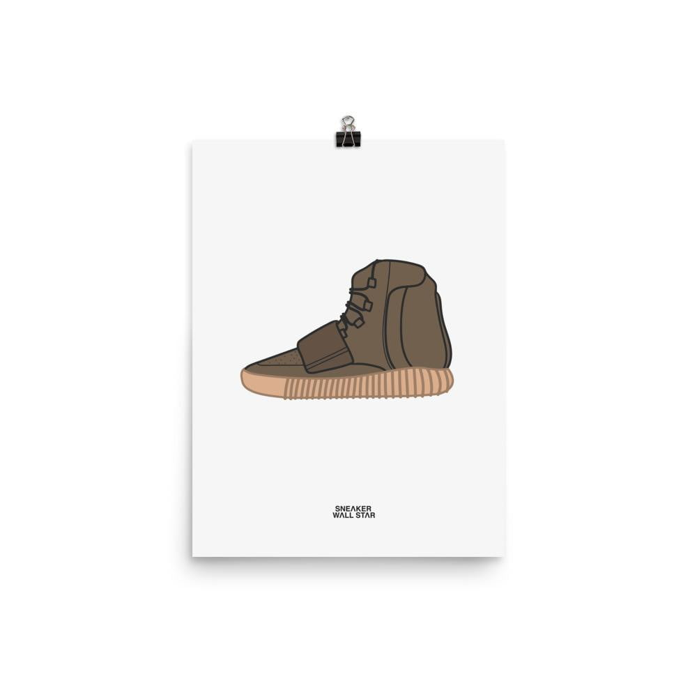 Poster Yeezy 750 Chocolate