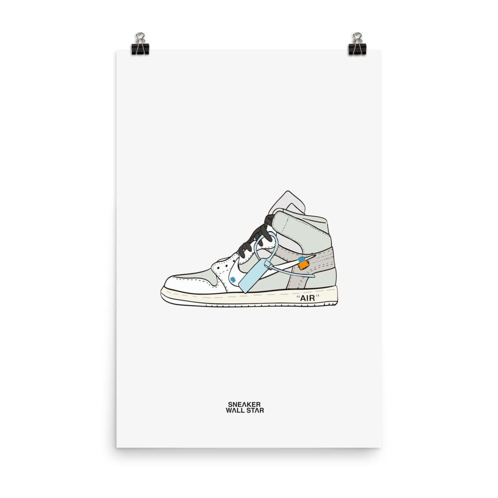 Poster Air Jordan 1 x Off WhiteSneakers Wall Star- accessoires sneakers addict