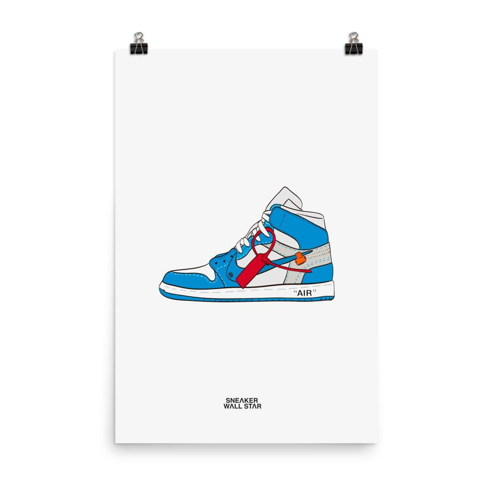 Poster OFF-WHITE JORDAN 1 UNCSneakers Wall Star- accessoires sneakers addict