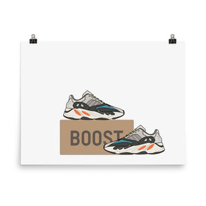 Poster Adidas Yeezy 700 OG - HorizontalSneakers Wall Star- accessoires sneakers addict