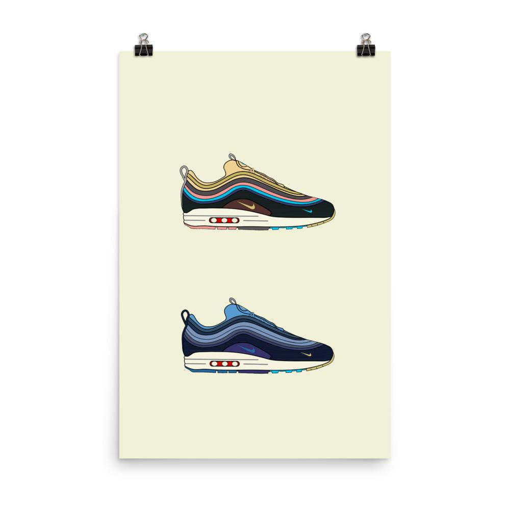Poster Nike SW OG & V2Sneakers Wall Star- accessoires sneakers addict