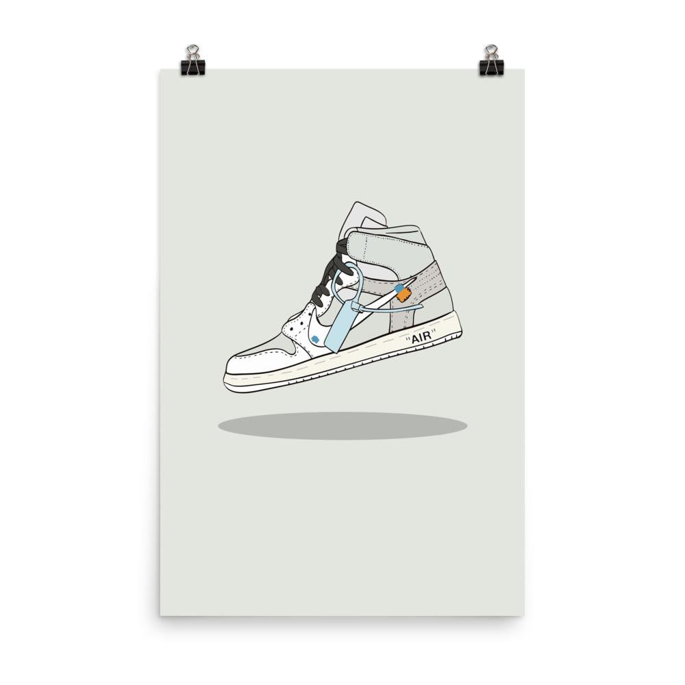 Poster Jordan 1 Retro High Off-White WhiteSneakers Wall Star- accessoires sneakers addict