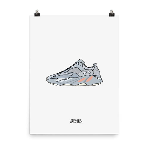 Poster YEEZY 700 INERTIASneakers Wall Star- accessoires sneakers addict