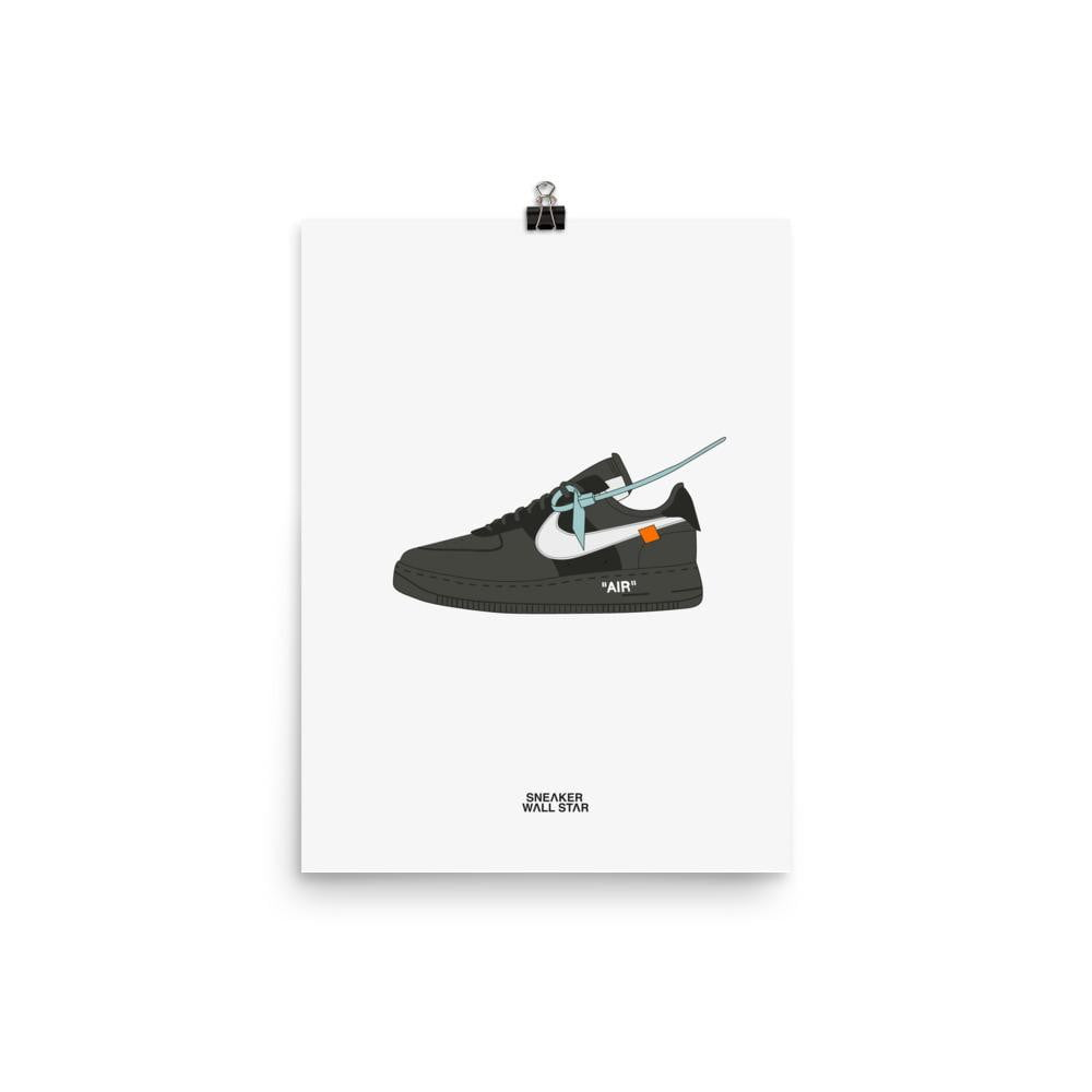 Poster Air Force 1 Black x Off White