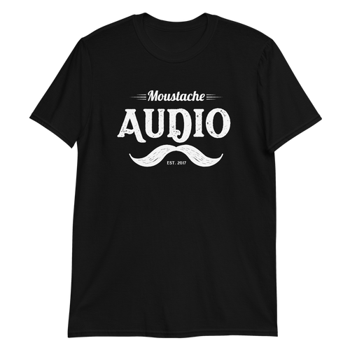 Moustache Audio White Logo T-Shirt