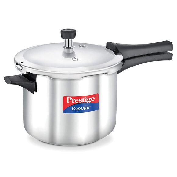 Prestige Popular Stainless Steel Pressure Cooker, 5 Litres