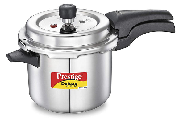 Prestige Deluxe Alpha Svachh Stainless Steel Pressure Cooker, 3.5 Litres