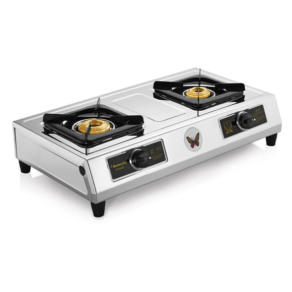 Butterfly Friendly Stainless Steel Gas Stove, 2 Burner