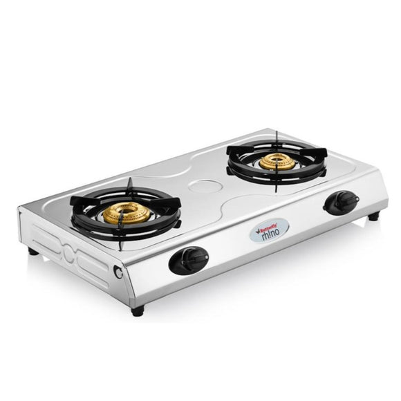 Butterfly Rhino Stainless Steel Gas Stove, 2 Burner